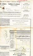 VAUD - TAXE  - CACHET AIGLE GARE CFF - LETTRE DE VOITURE PETITE VITESSE - F.LEYVRAZ BITTER DES DIABLERETS - AIGLE - 1915 - Erinnophilie
