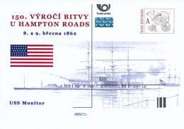 Tschech. Rep. / Ganzsachen (Pre2012/13) 150. Jahrestag Der Schlacht Von Hampton Roads (1862) - USS Monitor - Briefe