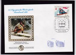 XII. Olym. Winterspiele Innsbruck 1976.Riesenslalom Herren Gold Heini Hemmi. Schweizer Sporthilfe. - Inverno1976: Innsbruck