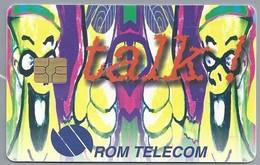 RO.- Telefoonkaart. ROM TELECOM. Cartela Telefonica. 50.000 Lei. Talk !. Roemenië. 2 Scans - Romania