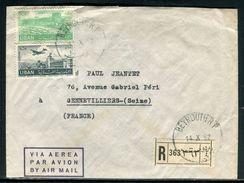 Liban - Enveloppe Commerciale En Recommandé De Beyrouth Pour La France En 1952 - Ref D290 - Liban