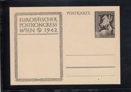 DR GZ P294  EUROPÄISCHER POSTKONGRESS WIEN 1942   UNGEBRAUCHT - Duitsland