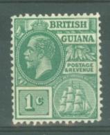 British Guiana: 1921/27   KGV    SG272   1c   MH - Guyane Britannique (...-1966)
