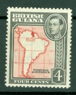 British Guiana: 1938/52   KGVI     SG310   4c  [Perf: 12½]   MH - British Guiana (...-1966)