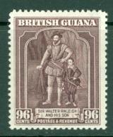 British Guiana: 1938/52   KGVI   SG316   96c   [Perf: 12½]   MH - British Guiana (...-1966)