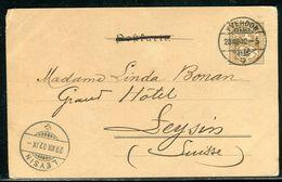 Suisse - Oblitération De Yverdon Sur Carte Postale Pour Leysins En 1902 - Ref D313 - 1882-1906 Armoiries, Helvetia Debout & UPU