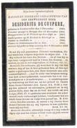 Oostnieuwkerke, Lichtervelde, Stalhille, Kortrijk: 1906, E.H. Desiderius Decuypere; Pastoor Oostnieuwk./Stalh ( 2 Scans) - Images Religieuses