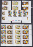 GEORGIA 2005, Mi: 507 - 510 A & B, Cpl. Set STRIP OF 4, EDGE, EUROPA CEPT, STAMPS ON STAMPS, MNH, TOP QUALITY, See Scans - 2005
