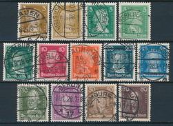 D. Reich Nr. 385-397 ~ Michel 24,-- Euro - Oblitérés