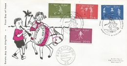 Surinam Suriname 1964 Paramaribo Playing Children Skipping Rope Swing Play Toy FDC Cover - Autres