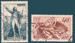 France 0314/15 (o)  Centenaire De Claude Rouget De Lisle - France