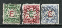 Bavaria. Servicio. 1908. Sellos De 1888-00 Sobrecargados. - Bayern (Baviera)