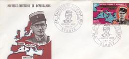 NOUVELLE-CALEDONIE - FDC -CACHET ROND PREMIER JOUR BATAILLON DU PACIFIQUE 1941-1971 -L.C. BROCHE - 5.5.1971 NOUMEA  /1 - Briefe U. Dokumente