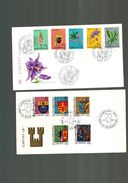 Luxembourg 2 FDC Timbres Caritas 1977 Et 1982 - FDC