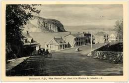 CHICOUTIMI P.Q. - RUE RACINE, EN ALLANT A LA RIVIERE DU MOULIN - Chicoutimi