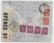 1944 - PORTUGAL - ENVELOPPE De ARCOS DE VAL DE VEZ => NEW YORK (USA) Avec CENSURE - 1910-... République