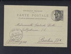 France Carte Postale 1897 Constantinople Turquie Pour Berlin - Poststempel (Briefe)