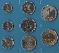 GEORGIA COIN SET 8 MONNAIES 1 TETRI - 2 LARI  1993 - 2006 - Géorgie