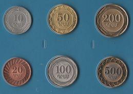 ARMENIA COIN SET 6 MONNAIES 10 DRAM - 500 DRAM 2003 - 2004 - Armenia