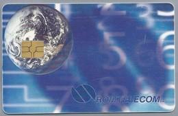 RO.- Telefoonkaart. ROM TELECOM. Cartela Telefonica. 20.000 Lei. - EARTH - Roemenië. 2 Scans - Romania