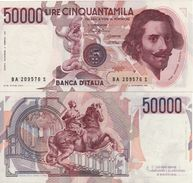 ITALY  50'000 Lire   (1984)     P113a  Ciampi-Stevani)   UNC - [ 2] 1946-… : République