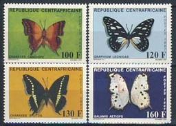 MDV-BK3-423 MINT ¤ CENTRAFRICAINE 1987 4w In Serie ¤ VLINDERS - BUTTERFLIES - MARIPOSAS - PAPILLONS - SCHMETTERLINGE - - Schmetterlinge