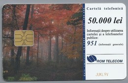 RO.- Telefoonkaart. ROM TELECOM. Cartela Telefonica. 50.000 Lei. - ROMTELECOM S.A. SOCIETATEA NATIONALA .... Roemenië - Romania