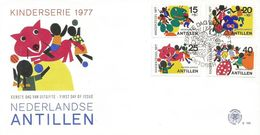 Netherlands Antilles 1977 Curacao Ladybug Wolve Child FDC Cover - Autres