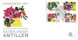 Netherlands Antilles 1977 Curacao Ladybug Wolve Child FDC Cover - Kindertijd & Jeugd