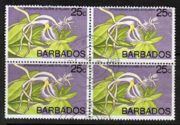 BARBADOS   Scott # 405 VF USED BLOCK Of 4 - Barbados (1966-...)