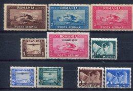 Roumanie                     Divers Postes Aériennes - Posta Aerea