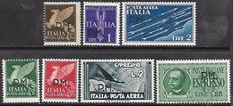 Italy  1943    Sc#MC1-5, MCE1, ME1  MH*  2016 Scott Value $13.35 - Military Mail (PM)