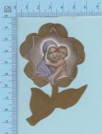 Religion -Decoupis Sur Fleur En  Plastique , Marie Et Jesus - Holy Card, Santini - Religion & Esotericism