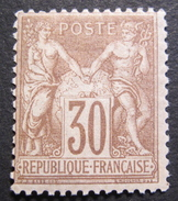 LOT R1597/70 - SAGE Type II N°80a Brun NEUF* - Cote : 130,00 € - 1876-1898 Sage (Type II)