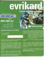 ROMANIA - Evrikard, Romtelecom Prepaid Card 200000 Lei, 06/02, Sample - Romania