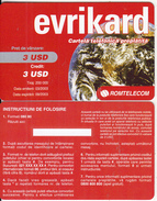 ROMANIA - Evrikard, Romtelecom Prepaid Card 3 USD, 03/03, Sample - Romania