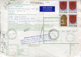 28833 Adresskort 1988 From  Helsinkito Italy - Finland