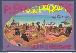 = Perdu Au Paradis, Salut De La Méditerranée, Siesta Cards S.L. - Humour