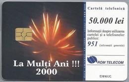 RO.- Telefoonkaart. ROM TELECOM. Cartela Telefonica. 50.000 Lei. - LA MULTI ANI !!! - 2000. Roemenië - Romania