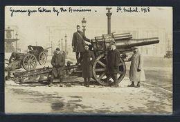 Carte Photo, Saint Mihiel, Soldats Américains 1918 ( Artillerie ) ( Guerre De 14 - 18 ) - Saint Mihiel