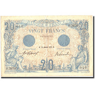 France, 20 Francs, 20 F 1905-1913 ''Bleu'', 1913, 1913-01-23, KM:68b, TTB+ - 1871-1952 Gedurende De XXste In Omloop