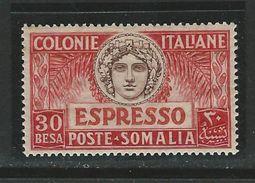 ITALIA REGNO - SOMALIA 1924 - ESPRESSI N. 3 Nuovo * - Cat. 15 € - Lotto 1820 B - Somalia