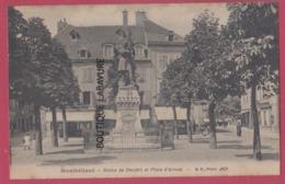 25 - MONTBELIARD---Statue De Denfert Et Place D'Armes--animé - Montbéliard