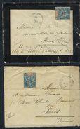 Réunion Correspondance Militaire De L'enfanterie De Marine En 1895 Pour Paris Affranchi 15 Cts - Reunion Island (1852-1975)