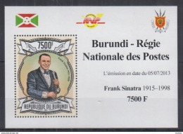 B60. Burundi - MNH - Famous People - Frank Sinatra - 2013 - Deluxe - Celebrità