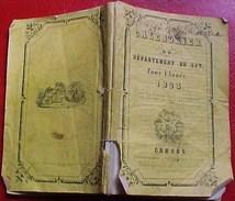 EO 1853, CALENDRIER Du DEPARTEMENT Du LOT Avec CARTE DEPLIABLE  Par BRASSAC à CAHORS OLD CALENDAR BOOKLET - Calendars