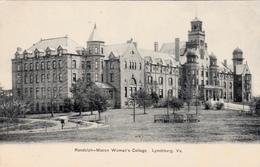 Vintage 1900-1905 - Lynchburg Virginia VA - Randolph-Macon College - Architecture - By American News Co. - 2 Scans - United States
