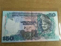 Malaysia 1995 1996 $50 Ringgit Don Paper Banknote GVF TDLR Prefik AM - Malaysia