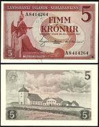 ISLANDE Iceland 5 KRONUR L.1957 P 37 UNC - Islande