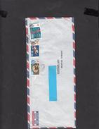 FIJI   1989 - Yvert 221-226-229 - Lettera  Per Germania Est - Fiji (1970-...)